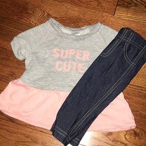 "Carters ""Super Cute"" Outfit"